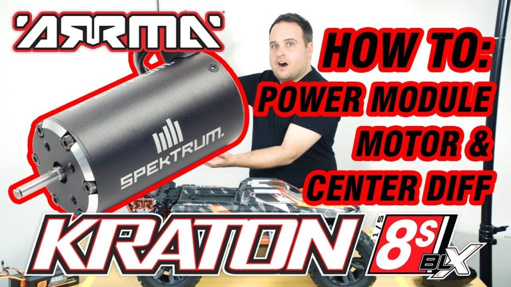 ARRMA KRATON 8S // Official How To Guide: Power Module & Centre Diff Removal & Features
