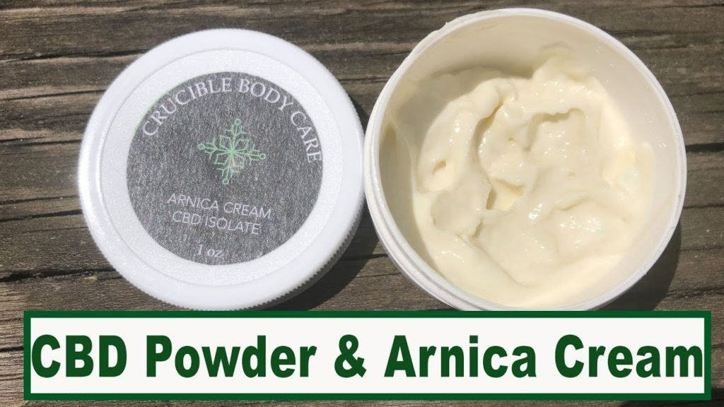 CBD Isolate Powder for Lotion ~ Arnica Cream Body Butter Review for Crucible BodyCare
