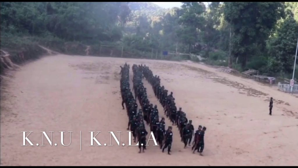 New Recruit Soldiers:Karen National Union (K.N.U) Karen National Liberation Army(K.N.L.A)